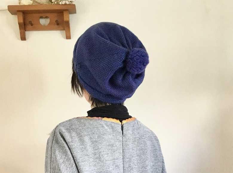 課題5 ウール3本取りで織るあったか帽子